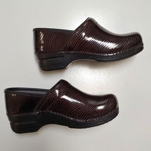 Dansko striped clogs with removable inserts